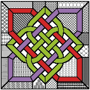 Blackwork Celtic Knot