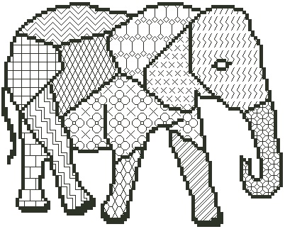 Blackwork Elephant