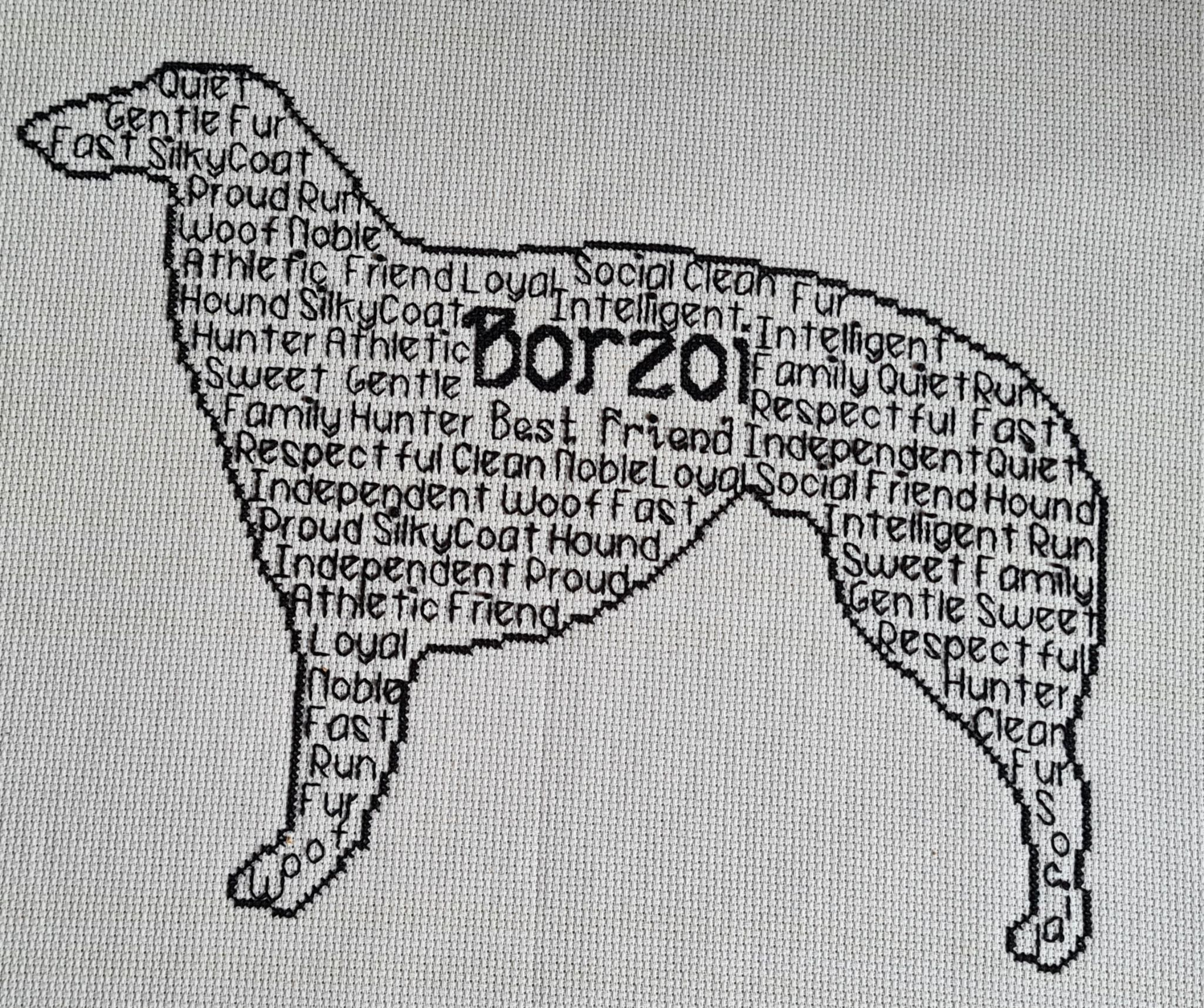 Borzoi In Words