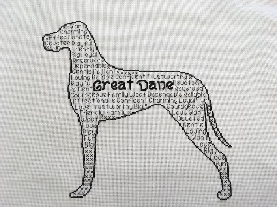 Great Dane In Words