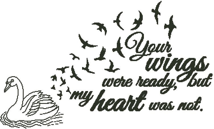 Your wings were ready swan with birds for Your wings were ready but my heart was not tattoo