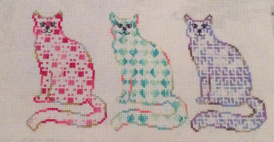 Cat Trio Stitching