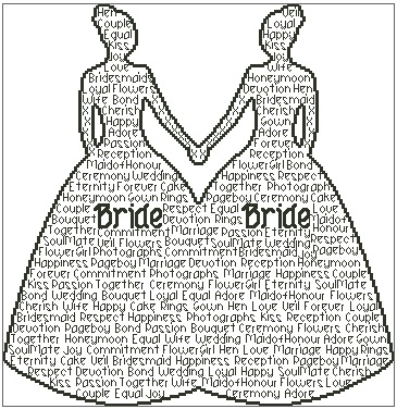 Bride and Bride In Words