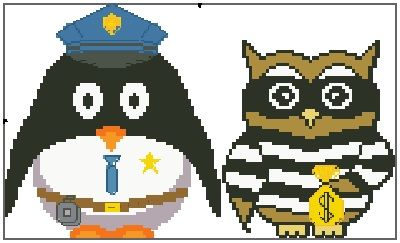 Cops and Robbers Presley Penguin and Ollie Owl