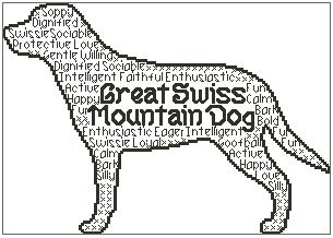 Great Swiss Mountain Dog In Words