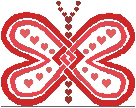 Heart Winged Butterfly