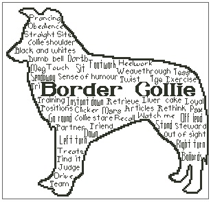In Words Collie Personalised
