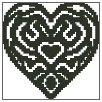 Mini Ornate Heart