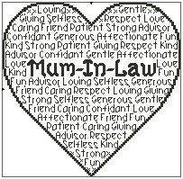 Mum In Law In Words
