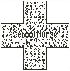 School Nurse In Words