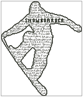 Snowboarder In Words