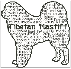 Tibetan Mastiff In Words