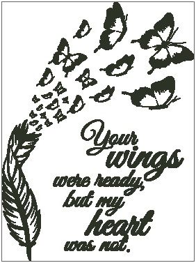 Your Wings Were Ready - Feather with Butterflies
